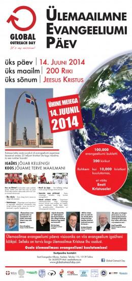 Kutse osalema Ülemaailmsel Evangeeliumi Päeval